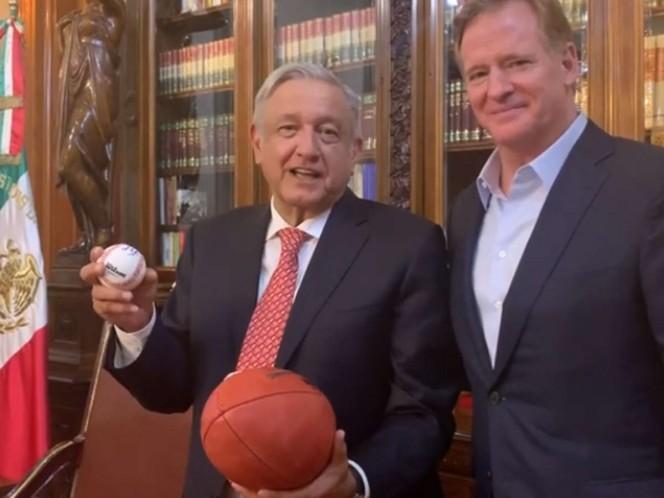 López Obrador se reúne con comisionado de la NFL