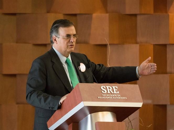 El canciller destacó que México actuará con firmeza y que ya se transmitió la postura a Estados Unidos, así como la resolución de hacer frente a la delincuencia organizada transnacional.