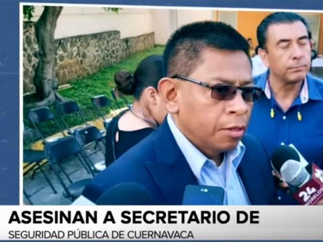 Ejecutan a Secretario de Seguridad de Cuernavaca