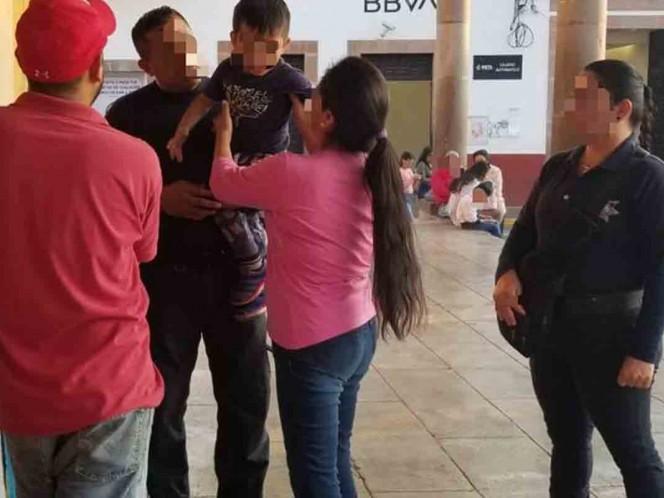 Rescatan a menor que deambulaba solo en un centro comercial