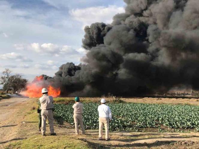 Toma clandestina provoca fuga de Gas LP en Puebla