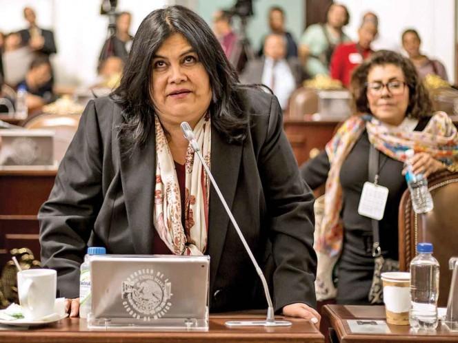 La diputada local de Morena, Guadalupe Chavira, se pronunció en contra de que José Luis Rodríguez llegue a ser coordinador de bancada; la respuesta del legislador fue que él estaba para sumar, no dividir. Foto: Eduardo Jiménez/ Archivo