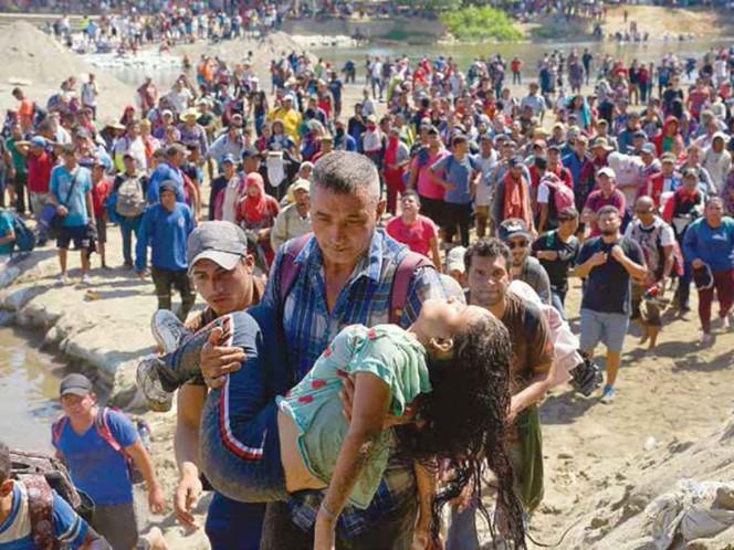 México justifica acciones para frenar caravana de migrantes