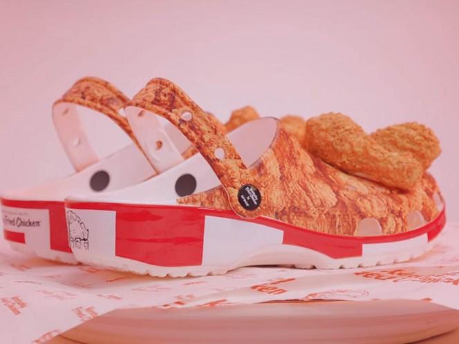 KFC y Crocs estrenan zapatos para los amantes del pollo frito