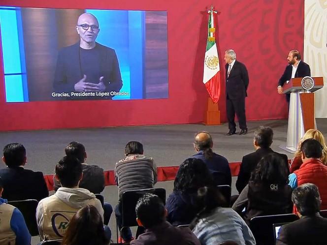 Anuncia que Microsoft invertirá mil 100 mdd en México