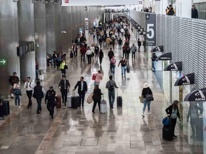 Sin casos de coronavirus el vuelo procedente de Italia al AICM