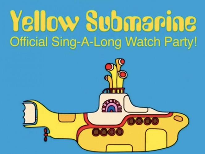 Los Beatles invitan a una fiesta para ver y cantar Yellow Submarine. Foto: Instagram TheBeatles