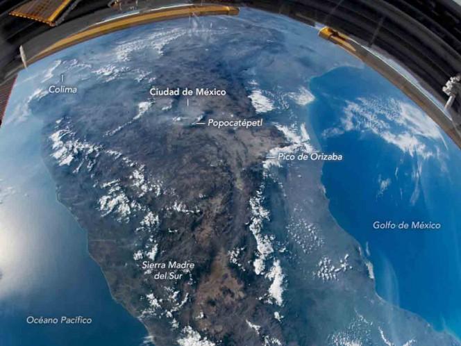 Así luce México desde el espacio; NASA difunde impresionante foto
