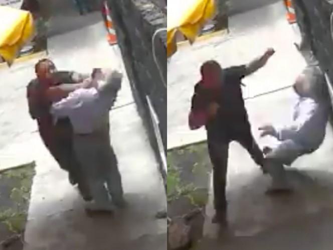 #LordBanqueta golpea sin razón a transeúntes que se le atraviesan