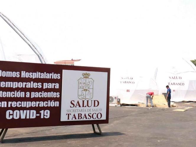 Ante el incremento de contagios en el estado de Tabasco, el gobierno ha dispuesto de hospitales temporales, sin embargo, según datos de la SSA federal, la disponibilidad de camas es insuficiente / Foto: Notimex/Archivo