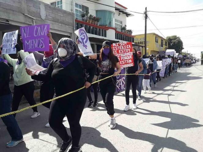 Protestan mujeres contra feminicidios y violencia de género en Hidalgo