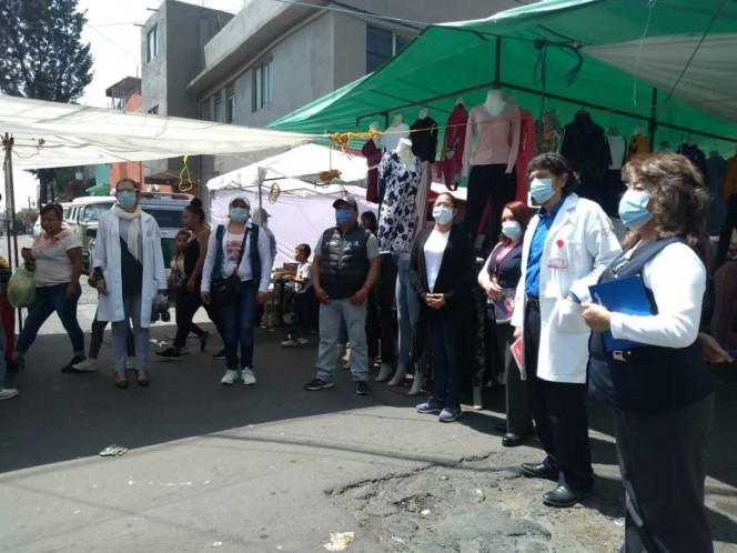 Vecinos concientizan sobre uso de cubrebocas en Tláhuac