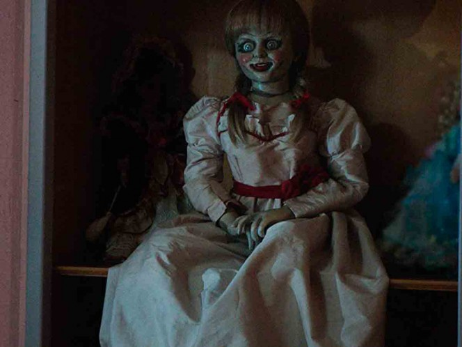 No, Annabelle has not escaped from the Warren Museum of the Occult in Connecticut.  Photo.  Warner Bros.