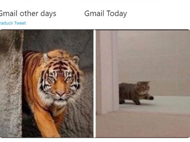 Gmail cae a nivel mundial;  así es como reaccionó internet