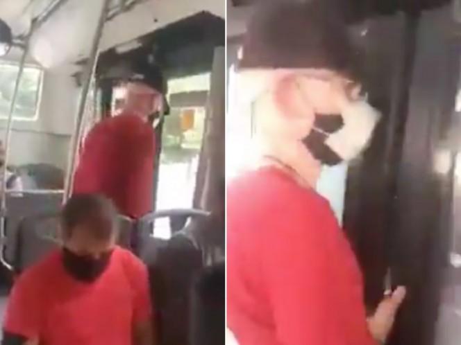 Mujer graba a acosador en el Metrobús de la CDMX