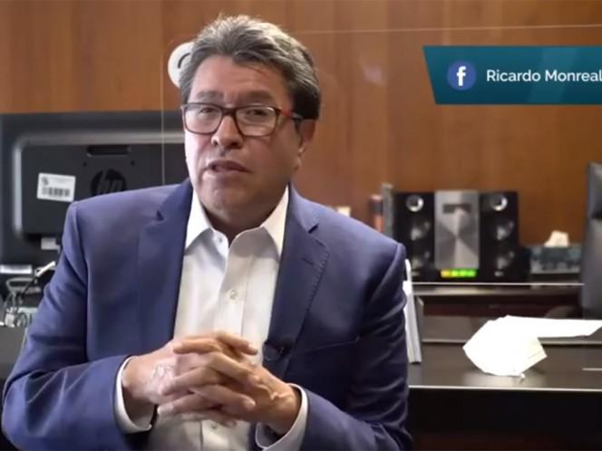 El presidente de la Junta de Coordinación Política, Ricardo Monreal, afirmó que el Senado, como representante del pacto federal, mantendrá una relación con todos los gobernadores.