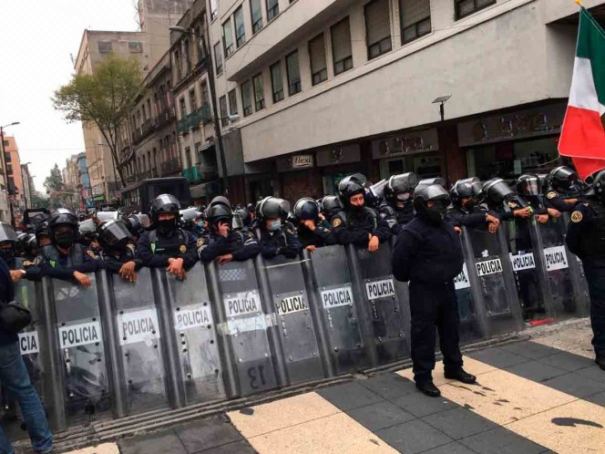 Hoy se presentaron varias manifestaciones en la CDMX. Foto: Twitter lauramex