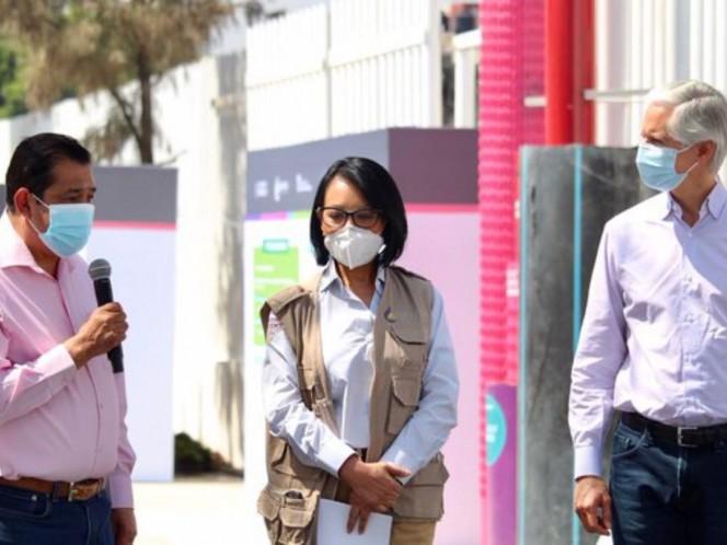 El alcalde Juan Hugo de la Rosa solicitó al gobernador del Estado de México continuar la sustitución hidráulica de Nezahualcóyotl.  Foto: @GobNeza
