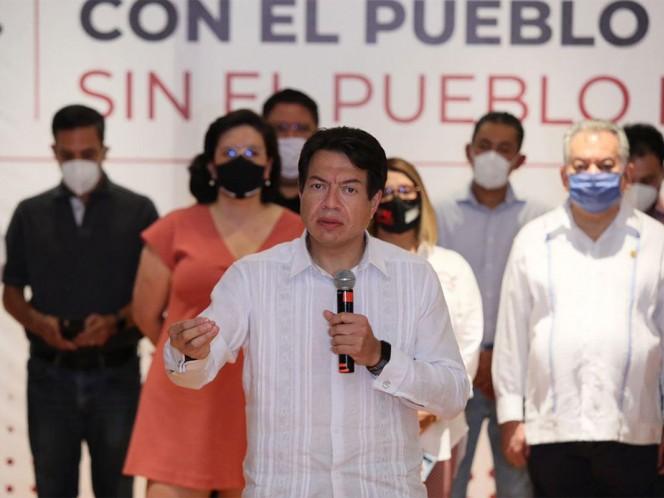Desde Monterrey, Nuevo León, el aspirante a la dirigencia nacional de Morena presentó sus propuestas para encabezar al partido. Foto: Especial