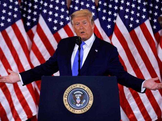 Trump mantiene un discurso de 'fraude' electoral ante los resultados electorales.
