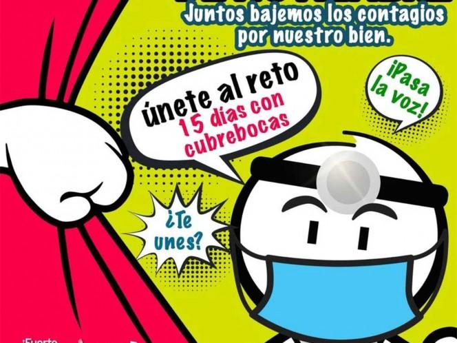 """Coahuila continuará con la campaña """"Únete al reto: 15 días con cubrebocas"""", que va dirigido a la población del 16 al 30 de noviembre. Foto: Secretaría de Salud Coahuila"""