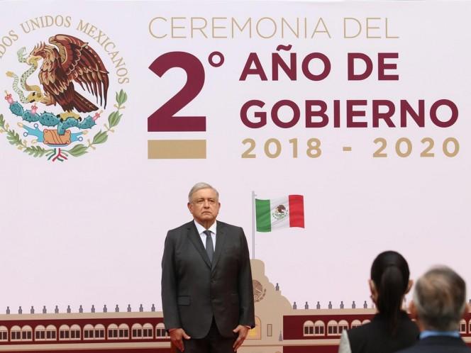 En el mensaje por su segundo año de gobierno, el presidente Andrés Manuel López Obrador destacó que el 71 por ciento de los mexicanos desea que su administración siga gobernando.