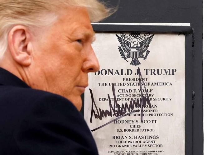 ¿Donald Trump cumplió con su principal promesa de campaña y construyó el muro fronterizo?