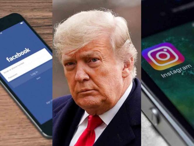 Facebook e Instagram de Trump son visibles, pero continúa bloqueo