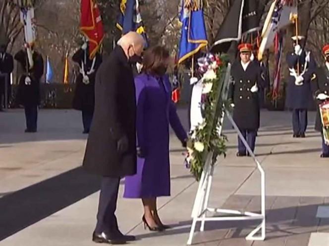 Joe Biden rinde homenaje a soldados caídos, en cementerio de Arlington