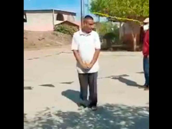 , Castigan con golpes a personas que salen a la calle sin cubrebocas,