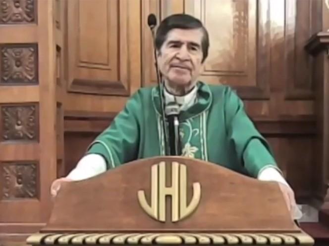 """El obispo en Ciudad Victoria asegura que usar """"el famoso cubrebocas"""", que utiliza la población para evitar que aumenten los contagios de covid, es """"no confiar en Dios""""."""