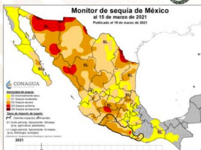 Actualmente sólo la Presa Marte R. Gómez en Tamaulipas, de las 210 que se monitorean, tiene 100 por ciento de llenado; 15 presas se encuentran a menos de 50 por ciento y 94 están por debajo de 50 por ciento y su nivel es menor al promedio histórico