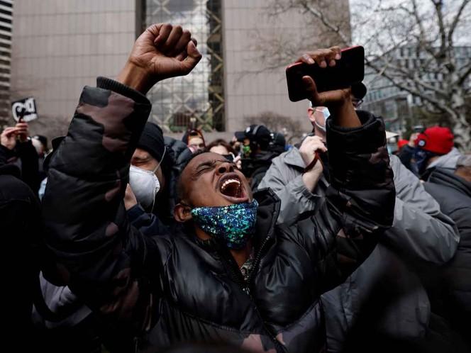 Así reaccionaron manifestantes al veredicto por muerte de George Floyd