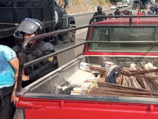 En operativo, detienen a 95 personas; manifiestan ser estudiantes de la Normal Rural Mactumactzá