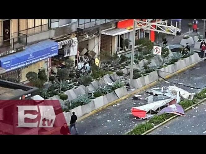 Luego de la explosión de el viernes pasado en una cafetería ubicada en la calle de Félix Cuevas, en la delegación Benito Juárez, este es el panorama, a tres días.