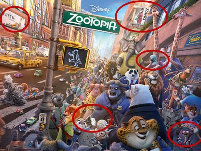 15 detalles que no notaste en Zootopia