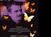 Recuerdan a Gabriel García Márquez con mariposas amarillas