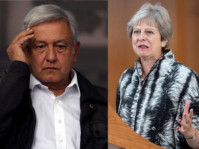 López Obrador conversó con Theresa May