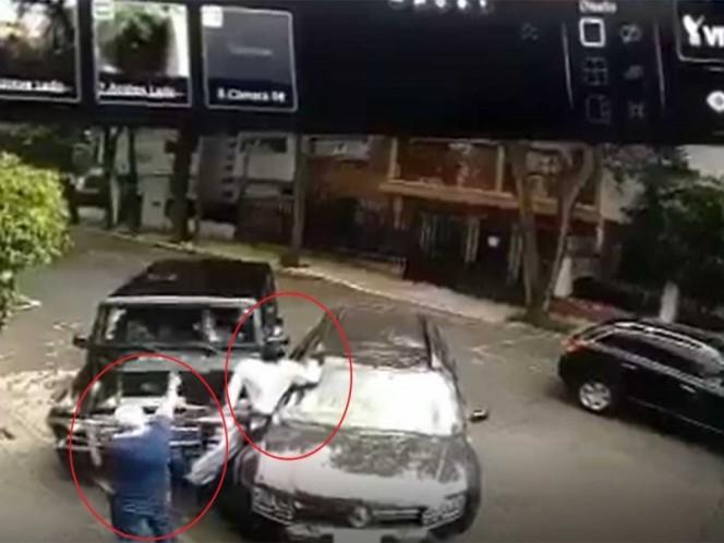 Ciudadano frustra secuestro en la colonia Condesa