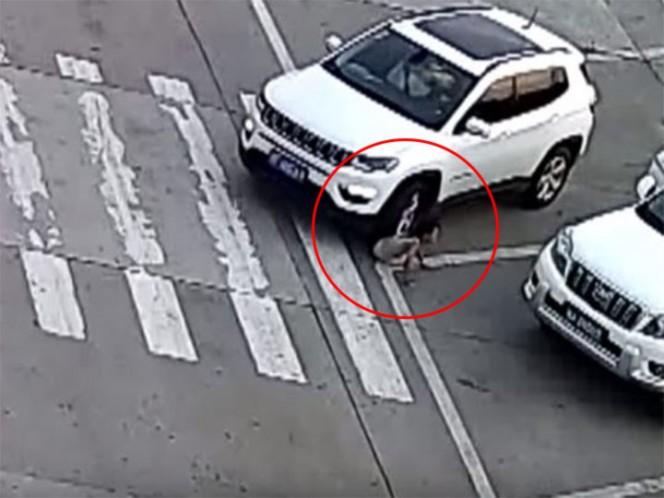 Conductor atropella a niña que se agachó para atarse las agujetas