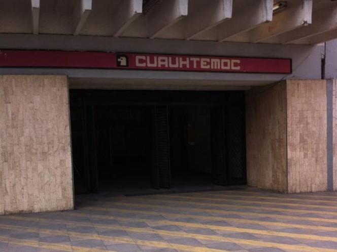 Hallan cuerpo de un hombre en local del Metro Cuauhtémoc