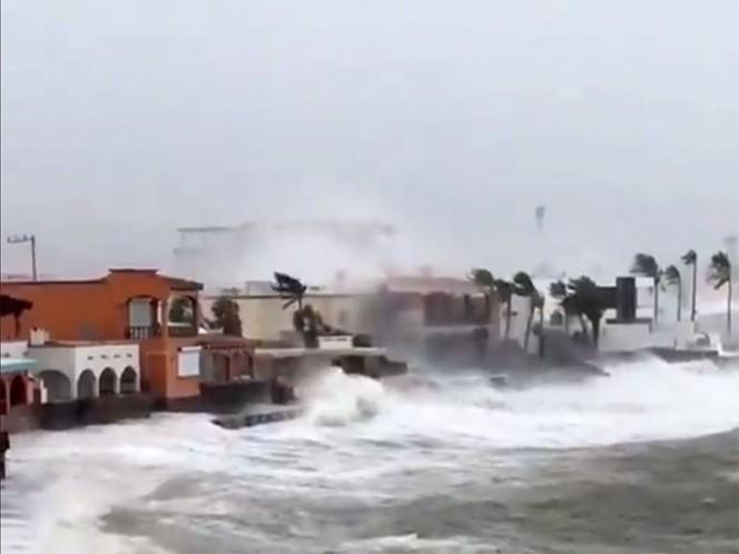 'Sergio' azota a Sonora y se degrada a tormenta tropical