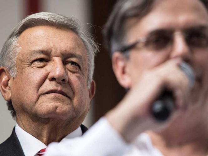 Destaca López Obrador experiencia de Ebrard para ocupar la SRE