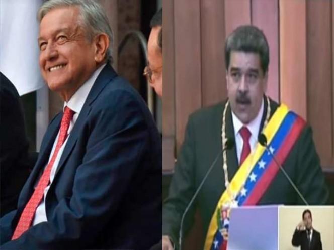 López Obrador opina sobre el 'Viva México' de Nicolás Maduro