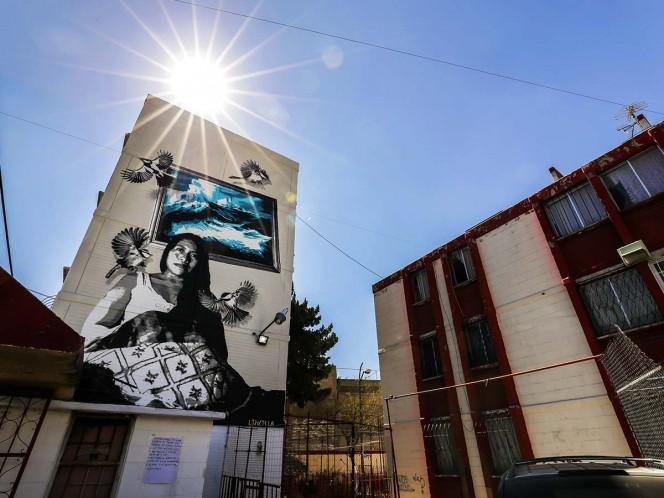 El mural de Yalitza Aparicio que enorgullece a Iztapalapa