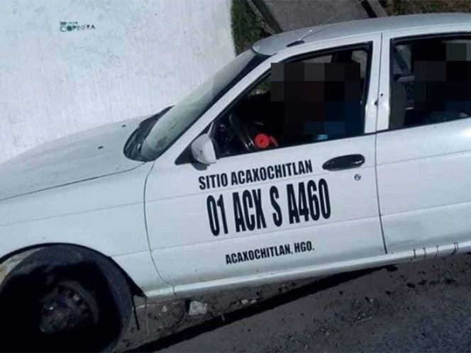 Ejecutan a tres personas dentro de taxi entre Puebla e Hidalgo