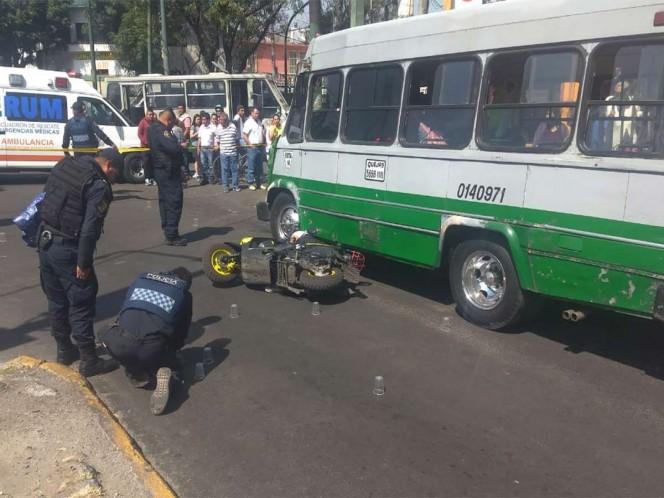 Acribillan a motociclista en calles de Iztapalapa