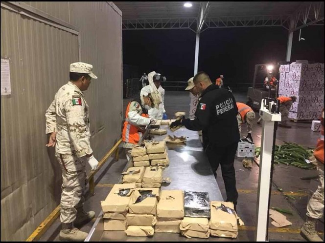 Asegura Sedena cargamento de droga oculto en legumbres
