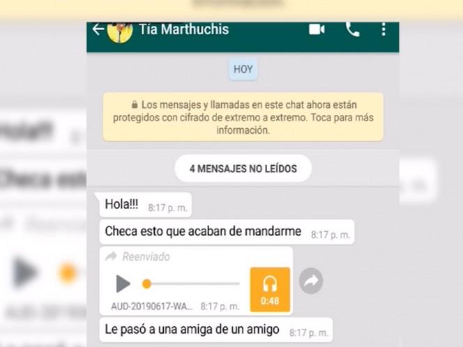 Desmienten audio que circula en WhatsApp