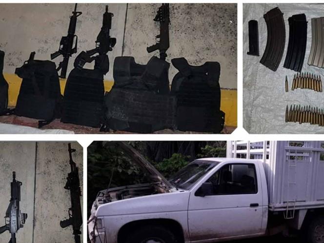 Detienen a 5 adolescentes en Guerrero con tremendo arsenal